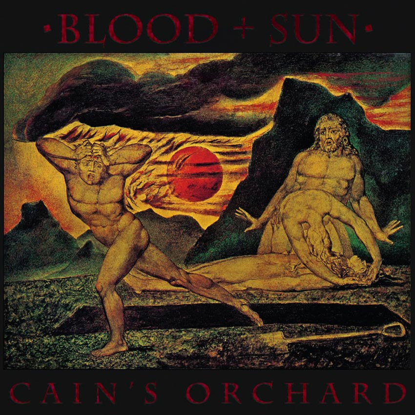 Blood and Sun, Cain's Orchard 7 inch E.P. album cover, Released by Pasanta Urfolk 2018